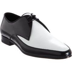 #SAINTLAURENT Perforated Two-Tone Derby #shoewear #men