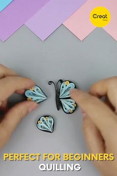 Beautiful paper quilling Butterflies designs an Quilling Supplies, Quilling Dolls, Paper Quilling Earrings, Quilling Letters, Paper Quilling Cards, Paper Quilling Tutorial, Quilling Work, Paper Quilling Patterns, Origami And Quilling