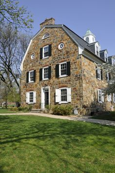 The old stone Colonial Hall on the campus of Moravian College in Bethlehem.