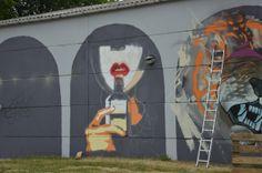 Fresque en cours au Kosmopolite Art Tour Bruxelles