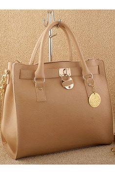 Office Lady Elegant Zipped Square Handbag