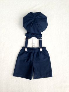 Ring Bearer Outfit Navy Newsboy Set Newsboy by fourtinycousins