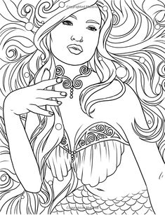 Mermaids - Calm Ocean Coloring Collection - Selina Fenech - Livres