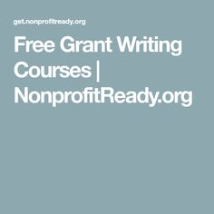 NonprofitReady offers free grant writing courses to enhance your skills and make a greater impact in your nonprofit career. Grant Writing Courses, Grant Proposal Writing, Saving Money Chart, College Dorm Checklist, Free Grants, Grant Money, Foundation Grants, Journal Writing Prompts, Resume Writing