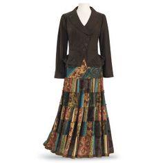Patchwork Maxi Skirt - Women's Clothing & Symbolic Jewelry – Sexy, Fantasy, Romantic Fashions