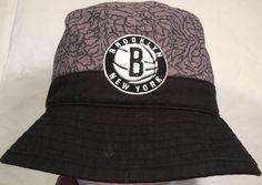 Mitchell Ness NBA Brooklyn Nets Team Court Logo Bucket Hat Small Medium  Black  7e8dfd5af772
