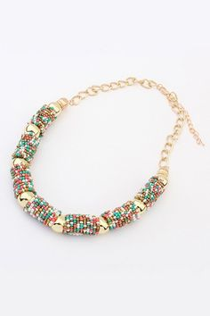 Bohemian Fashion Hand Make Beads Summer Short Necklace