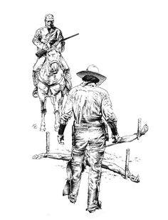 Black Hat Jack (eBook) by Joe R. Lansdale — Subterranean PressDust jacket and interior illustrations by Ken Laager