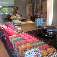 Roche Bobois Grand Opening Celebration at the North Palm Beach showroom. MAH JONG modular sofa upholstered in Missoni Home Fabrics at Roche Bobois.