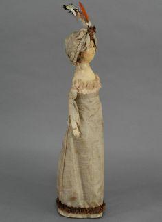 English Regency Wooden Fashion Doll (undated) Rubylane.com