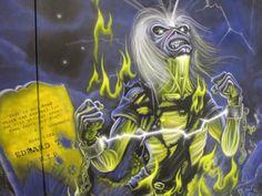 Wallpaint, airbrush, Iron Maiden, Live After Death