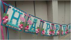 Happy Birthday Banner Handmade Banner Custom Made by nadyasworld, Felt Banner, Diy Banner, Pennant Banners, Name Banners, Banner Ideas, Party Banners, Card Ideas, Happy Birthday Baby, 1st Birthday Banners