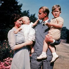 1951 ~ The two welcome their first child, Prince Charles, in 1948, and their second, Princess Anne, in 1950.
