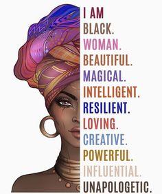 Art Black Love, Black Girl Art, Black Girls Rock, My Black Is Beautiful, Black Girl Magic, Black Girl Quotes, Black Women Quotes, Black Art Painting, Black Artwork
