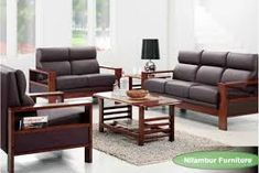Image Result For Simple Wooden Sofa Sets For Living Room