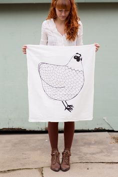 Chicken Tea Towel, Chicken Dishcloth, Chicken Kitchen Towel, Barnyard Kitchen, Home Essentials, Barnyard Tea Towel, Barnyard Dishcloth