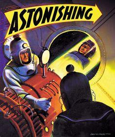 Retro-Futuristic, Sci-Fi, Leo Morey - cover of Astonishing Stories (1942)
