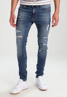 YOURTURN. Vaqueros slim fit - dark blue denim. Modelo, altura:186 cm, lleva la talla 32x32. Largo exterior de la pierna:105 cm (talla 32x32). Bolsillos:traseros,laterales. Cuidados:no utilizar secadora,lavar a máquina a 30°C. Largo entrepierna:... Mens Dark Jeans, Tight Jeans Men, Jeans Slim, Denim Jeans, Mode Jeans, Cargo Pants Men, Bermuda, Super Skinny Jeans, Denim Fashion