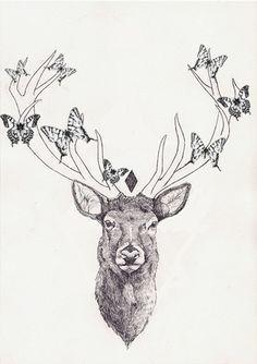 49 Meilleures Images Du Tableau Deer Tattoo Deer Tattoo Tatoos Et