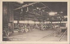Union Lumber Company's Machine Shop, Fort Bragg, California. Tree Logs, Trees, Fort Bragg, Vintage Photography, Blood, The Past, San Francisco, Places To Visit, Journey