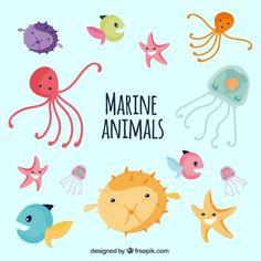 sea life vector collection by freepik