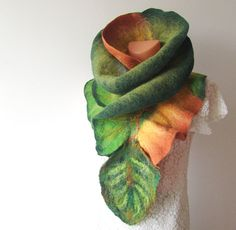 Nuno felted scarf... rather amazing, isn't it? $70 on Etsy