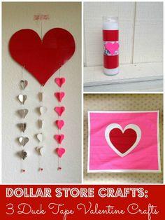 Dollar store crafts: 3 Duck Tape Valentine Craft ideas