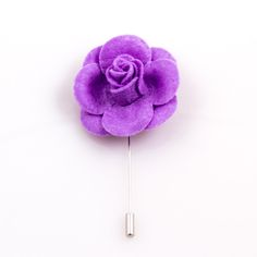 $12.99. www.ustylellc.com. Meticulously custom handmade in the USA to the most dapper of specifications. These lavender felt lapel flowers are a must have accessory. Each flower is handmade in the USA. Dimensions: Approximately 1.7 in diameter.  Stem is silver and measures 2.5 inches or 6.35 cm.  Description & Photo Copyright © 2014 Ubiquitous Style, LLC, www.ustylellc.com