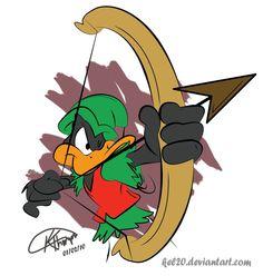 Daffy Duck as Robin Hood by kel20
