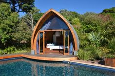 Just roll out of bed and into the pool? I believe I could handle that!! :-) (Cube Guest House, Hout Bay, South Africa)