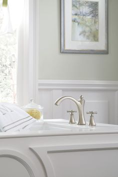 Hansgrohe 31314821 Metris C Brushed Nickel Two Handle With Handshower Roman  Tub Faucets | EFaucets.com | Bathroom Fixtures | Pinterest | Faucets, ...