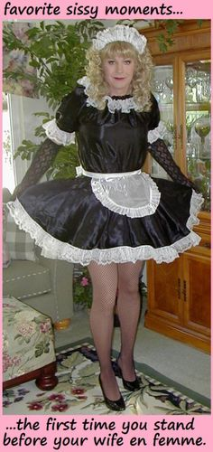 jennifer-sissycuckold:wow! its always exciting to be sissy for my wife but the first time is just that little bit extra special!