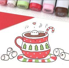 #ChocolatSPA! Kawaii Drawings, Doodle Drawings, Art Drawings Sketches, Doodle Art, Easy Drawings, Kawaii Doodles, Kawaii Chibi, Cute Doodles, Copic Art