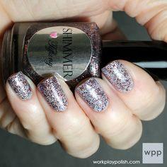 Shimmer Polish Tiffany over Zoya Blu