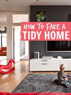 How to fake a tidy home ... a super simple tip that will help you conquer the clutter and get organized even if you are as messy as me!!
