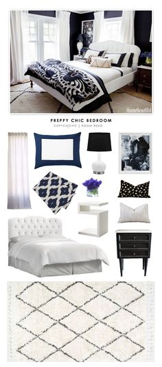 Michelle Adams' Preppy Chic Master Bedroom recreated for less by Copy Cat Chic by @audreycdyer