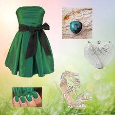 """Green with Envy"" by elunajewelry on Polyvore"