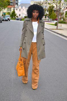 Style Pantry | Edun Trench + Boho Blouse + Boyfriend Cargo Pants 2012/04/13/