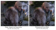 Solas conversation in Trespasser DLC - Five screenshot comparisons and poster's comments
