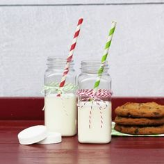 French Square Plastic Milk Bottles (8 ounce) with Lids - Shop Online - Ready to Party