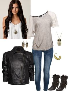 """Motorcycle Chic"" by fashionfinatic on Polyvore"