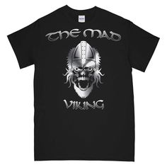 NEVER SURRENDER THE MAD VIKING Printed T-Shirt New T Shirt Design, Shirt Designs, Cool Graphic Tees, Vikings, Cool Designs, Mad, Military, Printed, Mens Tops