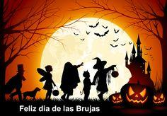 Hoy es el noche de las brujas! Net als in Amerika doen ze in Spanje ook aan Halloween.  Kinderen verkleden zich en bellen als het donker wordt aan bij huizen in de buurt die versierd zijn met pompoenen en lichtjes en roepen trick or treat, waarbij de keuze wordt gegeven tussen een plagerijtje uithalen of iets lekkers krijgen. ()