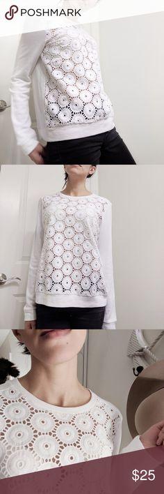 Front Crochet Top -Sweatshirt Tbd GAP Tops Sweatshirts & Hoodies