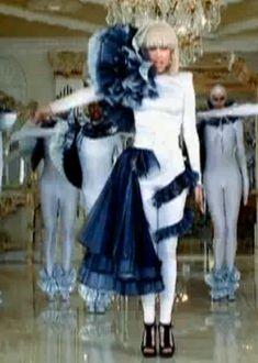 Lady Gaga BD cossie - tutu on shoulder! plus, half and half costume...