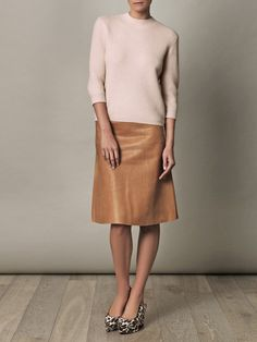 Vanessa Bruno sweater and skirt, with Stella McCartney shoes