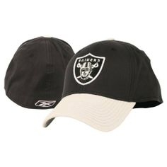NFL 2-Tone Team Colors Flex Fit Hat - Oakland Raiders by Reebok.  11.97 cf35f1d4a