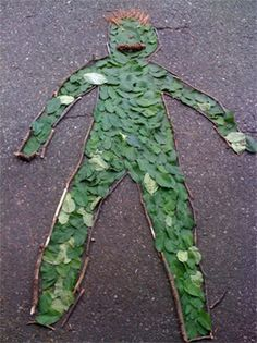 Self portrait with nature objects. Gloucestershire Resource Centre http://www.grcltd.org/scrapstore/