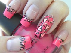Cheetah Valentine by NailswithTLC from Nail Art Gallery