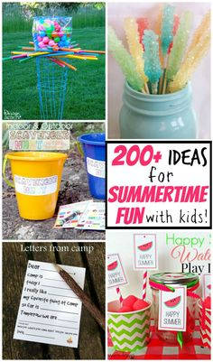 200 ideas for summertime fun with kids